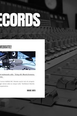 HTML шаблон №43559 на тему звукозаписывающая студия