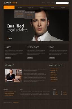 Адаптивный HTML шаблон №43584 на тему юрист