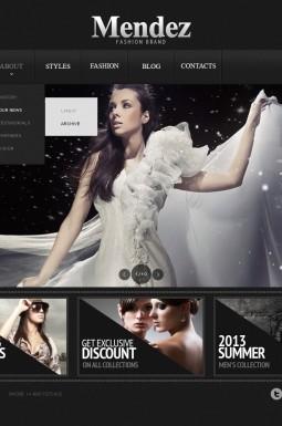 HTML шаблон №43592 на тему магазин одежды