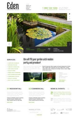 Адаптивный HTML шаблон №43643 на тему ландшафтный дизайн