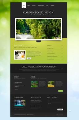 Адаптивный HTML шаблон №43644 на тему садовый дизайн