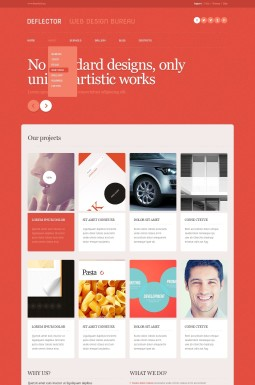 Адаптивный WordPress шаблон №43712 на тему дизайн студия