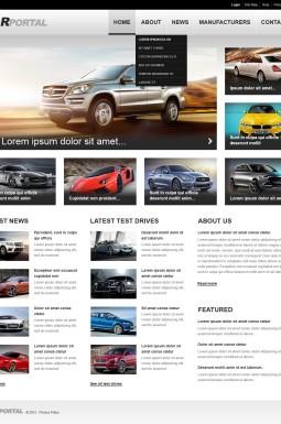 Адаптивный HTML шаблон №43742 на тему автомобиль