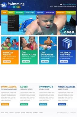 Адаптивный HTML шаблон №43794 на тему плавание