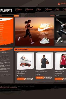 VirtueMart шаблон №43891 на тему спортивный магазин