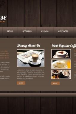 HTML шаблон №44060 на тему кофейня