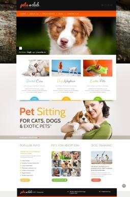 Адаптивный WordPress шаблон №44159 на тему домашние животные