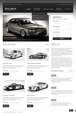 Адаптивный HTML шаблон №44198 на тему прокат авто