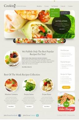 Адаптивный HTML шаблон №44199 на тему кулинария