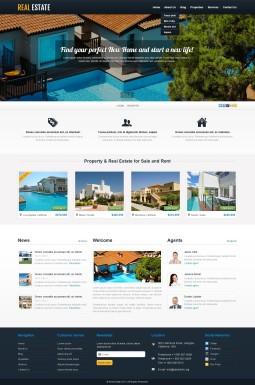 Адаптивный WordPress шаблон №44205 на тему недвижимость