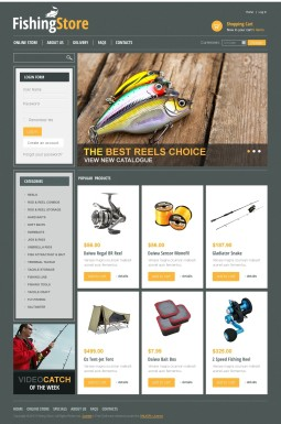 VirtueMart шаблон №44265 на тему рыбалка