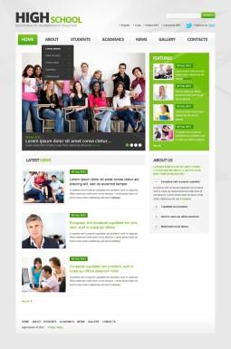 Адаптивный HTML шаблон №44398 на тему университет