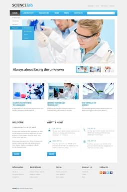 Адаптивный HTML шаблон №44425 на тему научная лаборатория