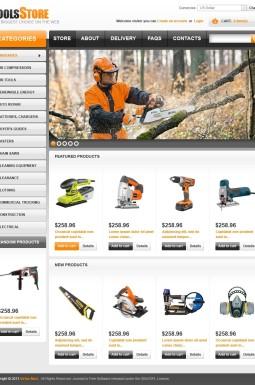 VirtueMart шаблон №44552 на тему инструменты и оборудование