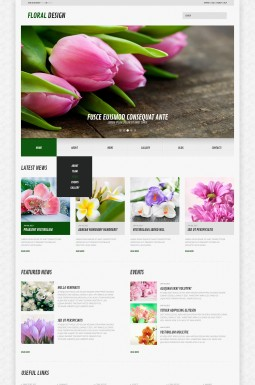 Адаптивный WordPress шаблон №44583 на тему цветы