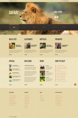 Адаптивный WordPress шаблон №44843 на тему живая природа