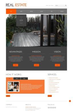Адаптивный WordPress шаблон №45036 на тему недвижимость