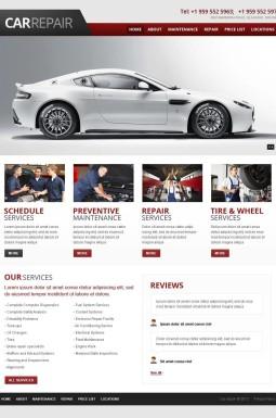 Адаптивный HTML шаблон №45070 на тему ремонт авто