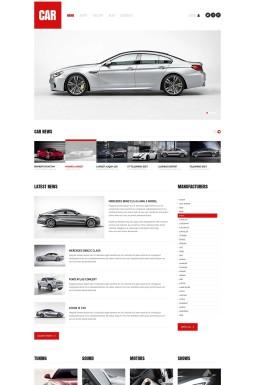 Адаптивный HTML шаблон №45079 на тему автомобиль