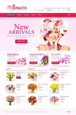 VirtueMart шаблон №45171 на тему цветочный магазин