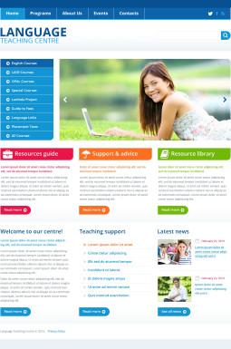 Адаптивный HTML шаблон №45435 на тему языковая школа