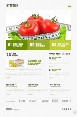 Адаптивный WordPress шаблон №45516 на тему похудение