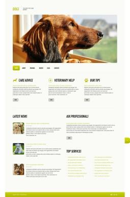 Адаптивный WordPress шаблон №45579 на тему собаки