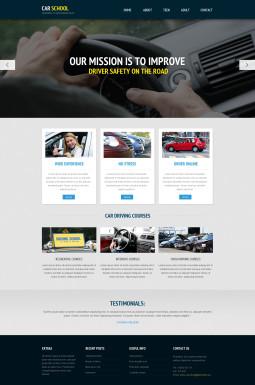 Адаптивный HTML шаблон №45729 на тему школа вождения