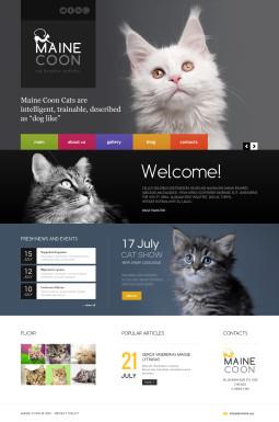 Адаптивный HTML шаблон №45870 на тему кошки