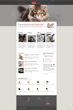 Адаптивный HTML шаблон №45894 на тему кошки