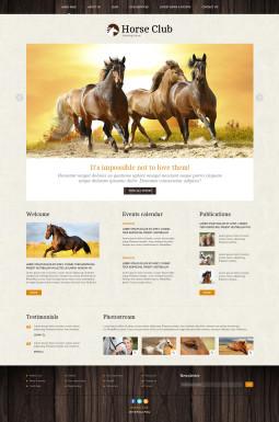 Адаптивный Joomla шаблон №46041 на тему лошади