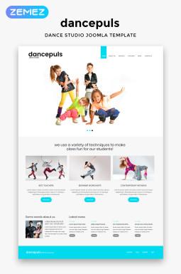 Адаптивный Joomla шаблон №46170 на тему танцевальная студия