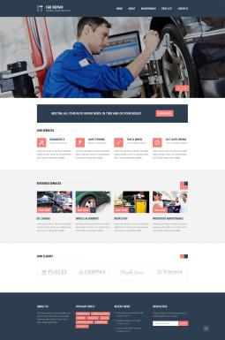 Адаптивный HTML шаблон №46196 на тему ремонт авто