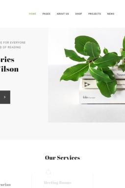 Адаптивный HTML шаблон №46251 на тему библиотека