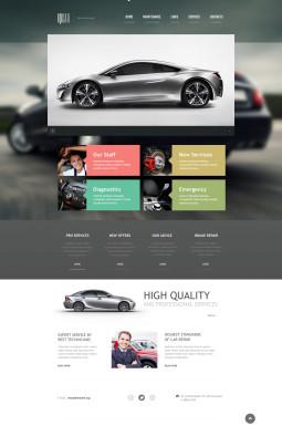 Адаптивный HTML шаблон №46252 на тему ремонт авто