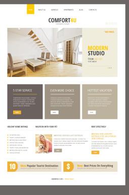 Адаптивный Joomla шаблон №46370 на тему недвижимость