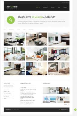 Адаптивный Joomla шаблон №46371 на тему недвижимость