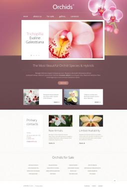 Адаптивный HTML шаблон №46439 на тему цветы