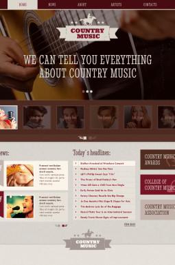 Адаптивный HTML шаблон №46515 на тему блог о музыке
