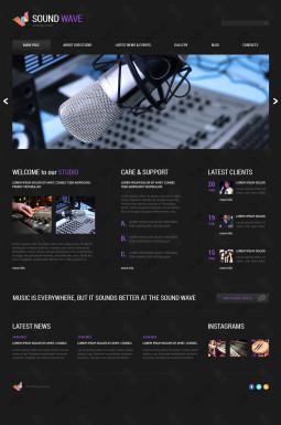 Адаптивный Joomla шаблон №46536 на тему звукозаписывающая студия