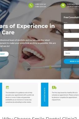 Адаптивный HTML шаблон №46574 на тему стоматология