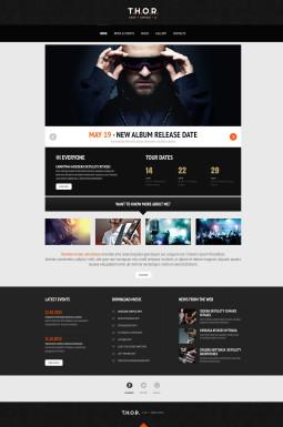 Адаптивный WordPress шаблон №46784 на тему музыка