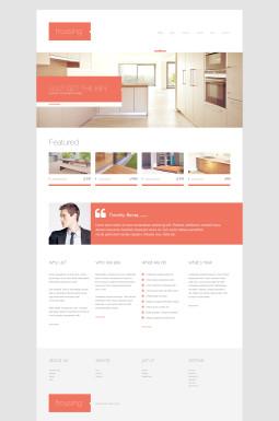 Адаптивный WordPress шаблон №46790 на тему агентство недвижимости