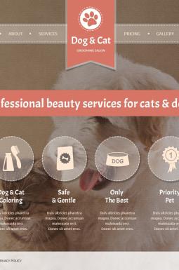 HTML шаблон №46821 на тему кошки