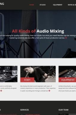 Адаптивный HTML шаблон №46915 на тему звукозаписывающая студия