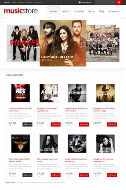 Адаптивный WooCommerce шаблон №46986 на тему музыкальный магазин