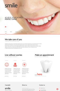 Адаптивный WordPress шаблон №47011 на тему стоматология