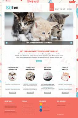 Адаптивный Joomla шаблон №47111 на тему кошки