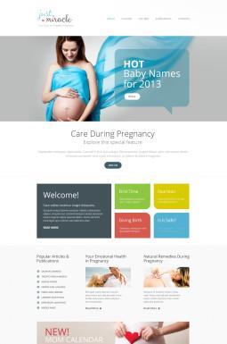Адаптивный HTML шаблон №47152 на тему беременность