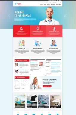 Адаптивный WordPress шаблон №47536 на тему врач